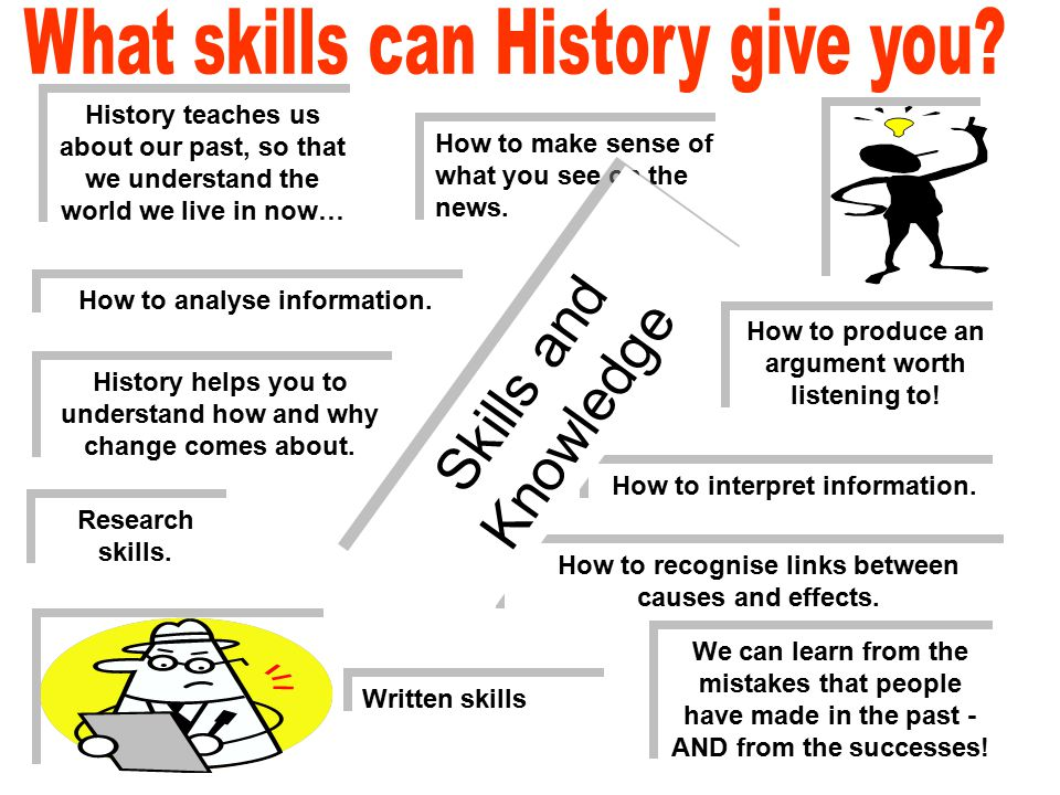 How to analyse information. How to make sense of what you see on the news. Written skills How to produce an argument worth listening to! Research skil