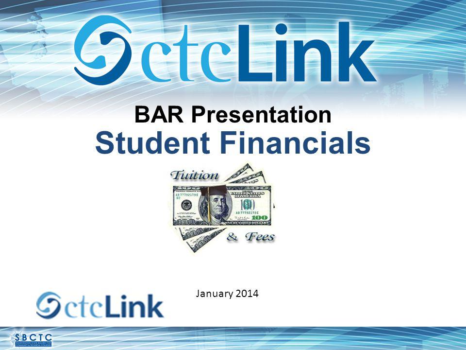 BAR Presentation Student Financials January 2014