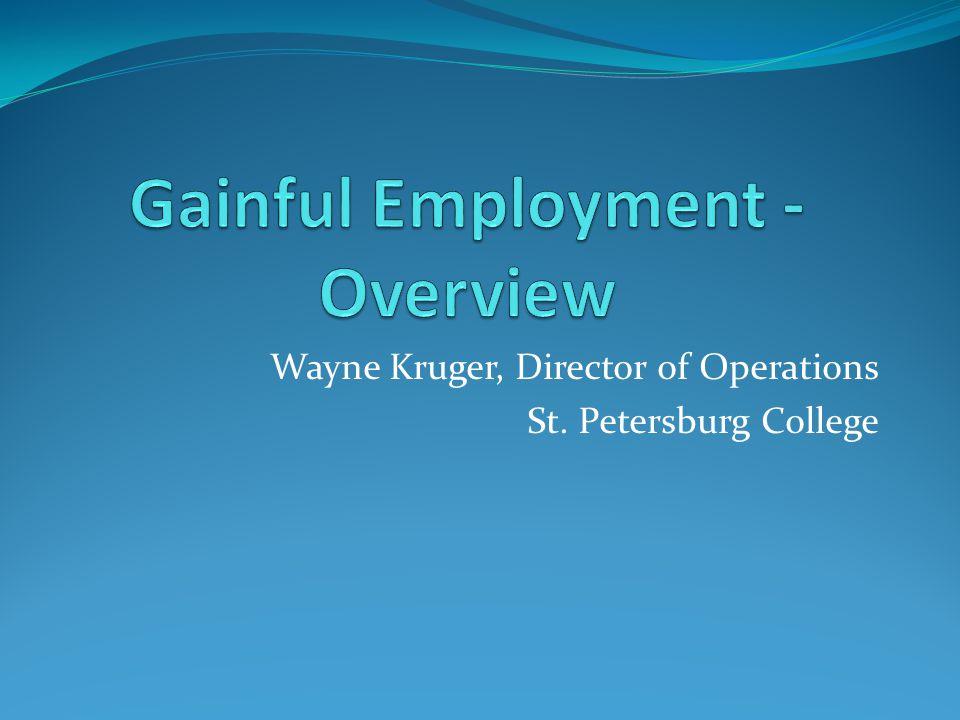 Wayne Kruger, Director of Operations St. Petersburg College