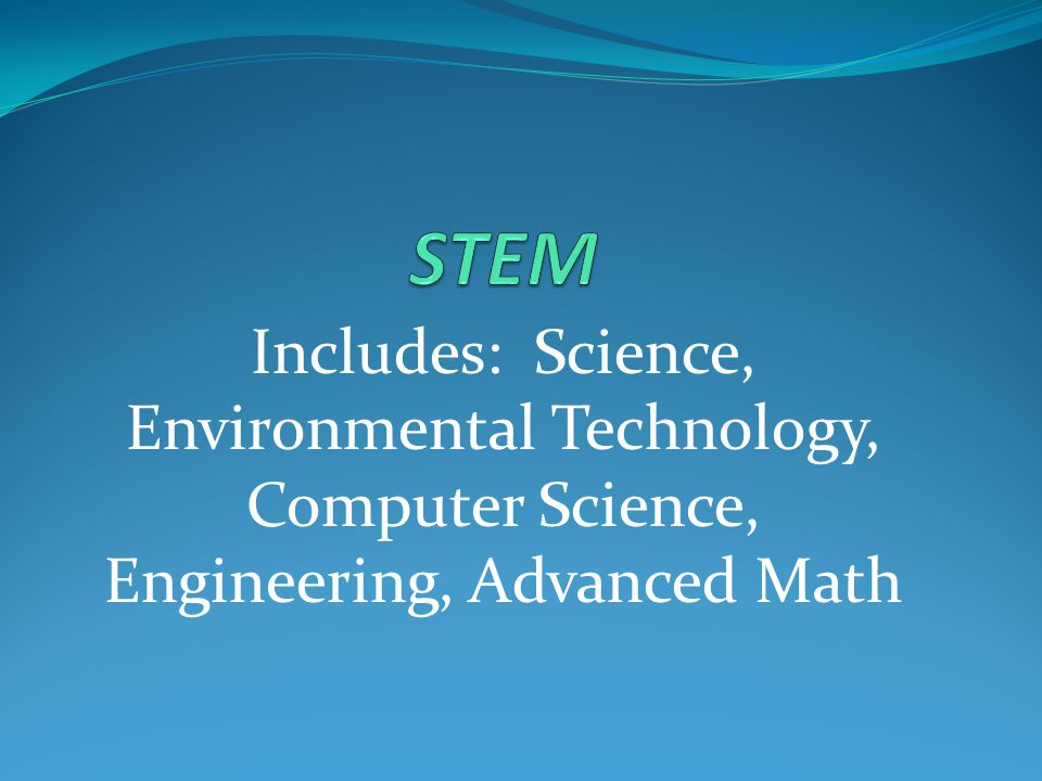 Includes: Science, Environmental Technology, Computer Science, Engineering, Advanced Math