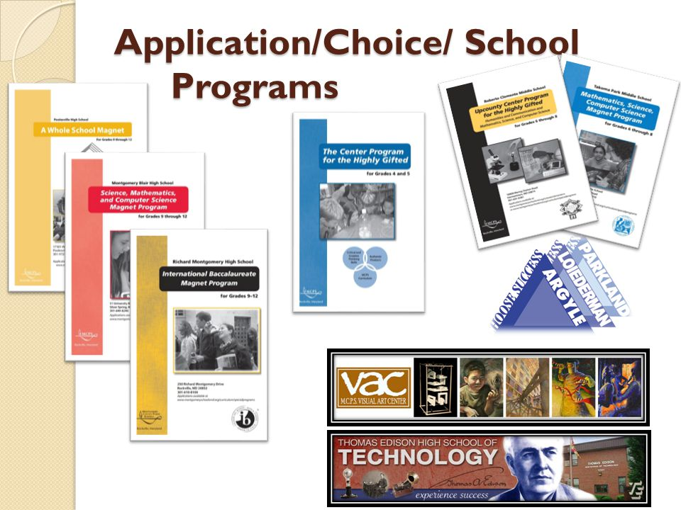 Elementary Application Programs WINGS Program Mentoring program for gifted/learning disabled students and highly able students who are not succeeding in the regular classroom.