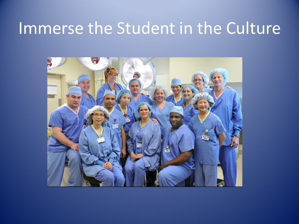 Immerse the Student in the Culture