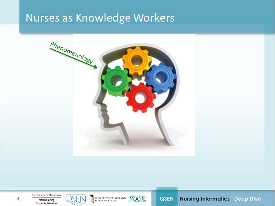 7 Nurses as Knowledge Workers Morality Phenomenology