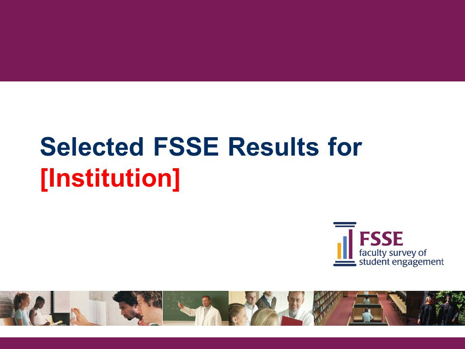 Selected FSSE Results for [Institution]
