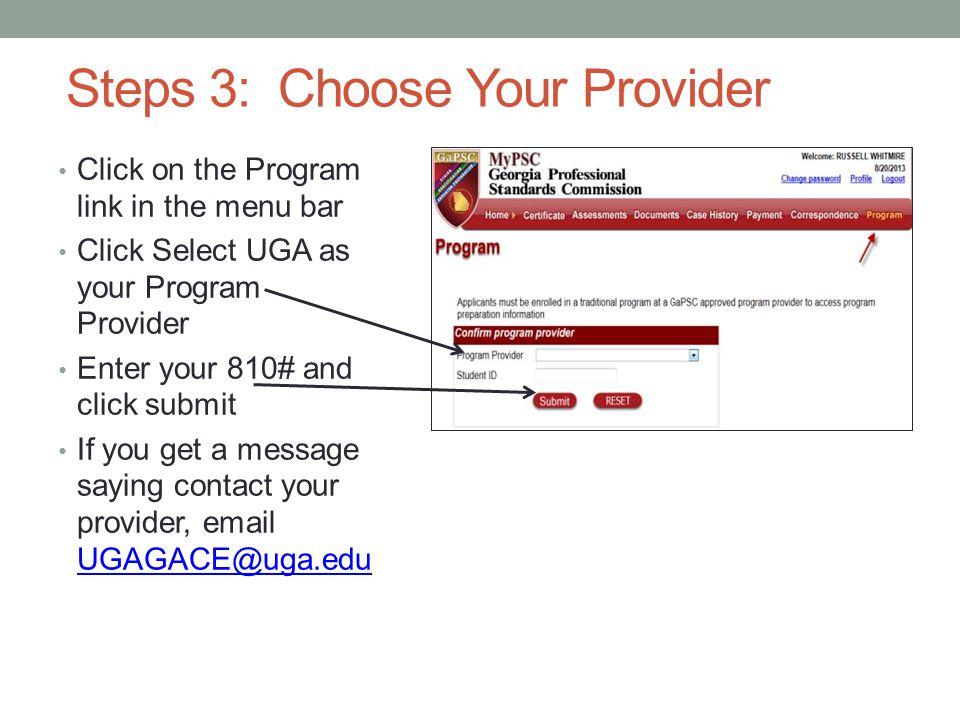 Step 4: Claim your program