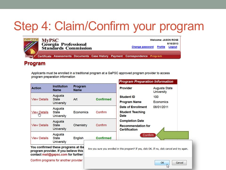 Step 5: Assessments Page Click on Assessments link in the menu bar