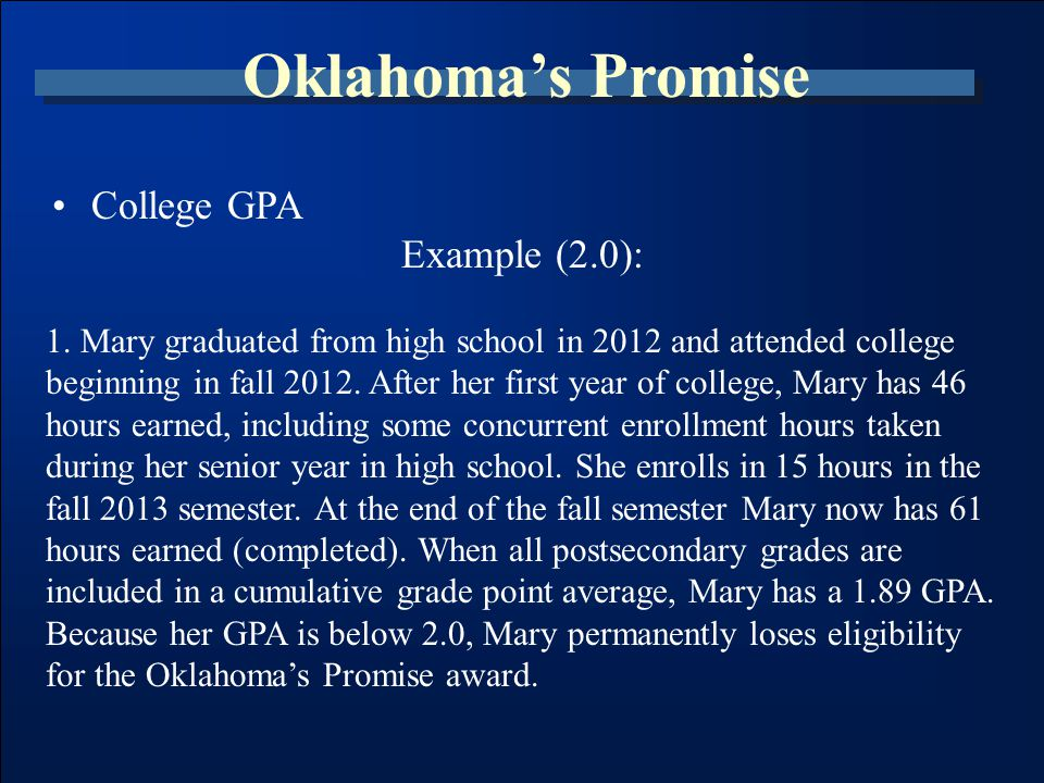 State Regents' Scholarships & Grants www.OKCollegeStart.org (800) 858-1840