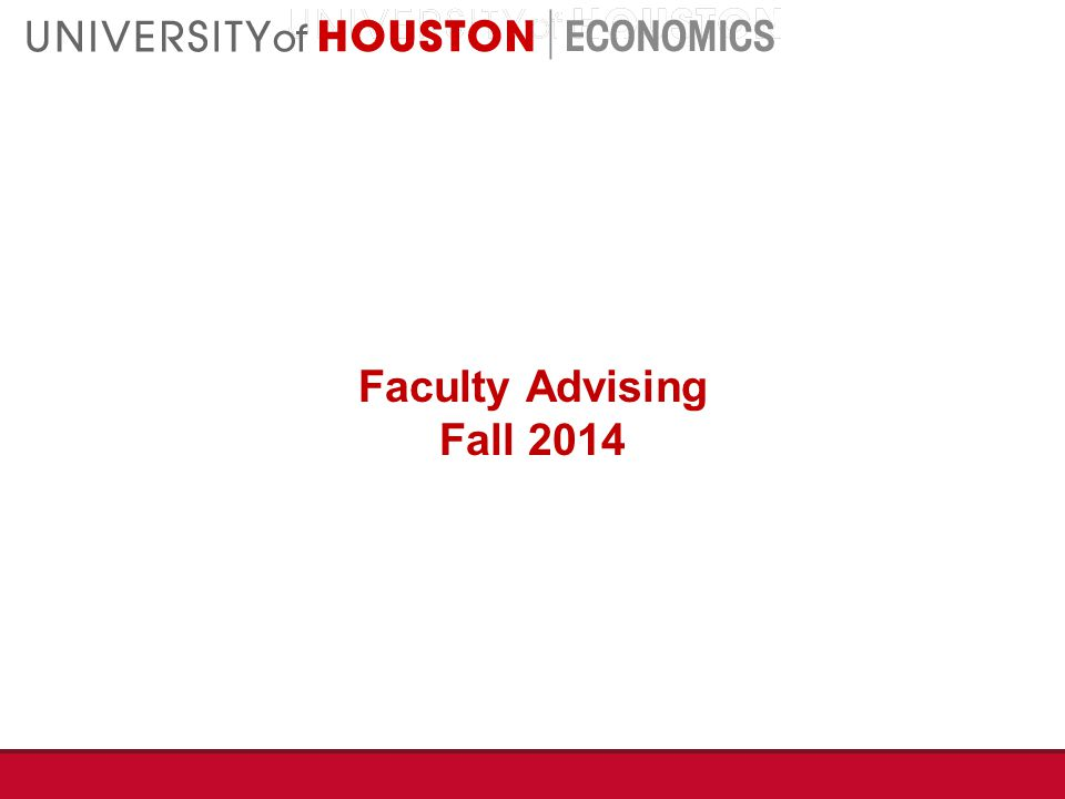 Faculty Advising Fall 2014