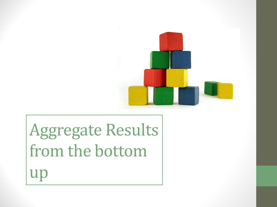 Aggregate Results from the bottom up
