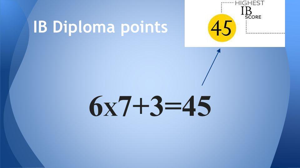 6 X 7+3=45 IB Diploma points