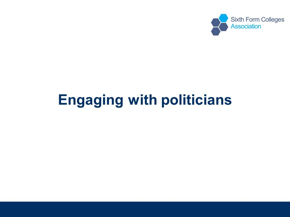 Engaging with politicians