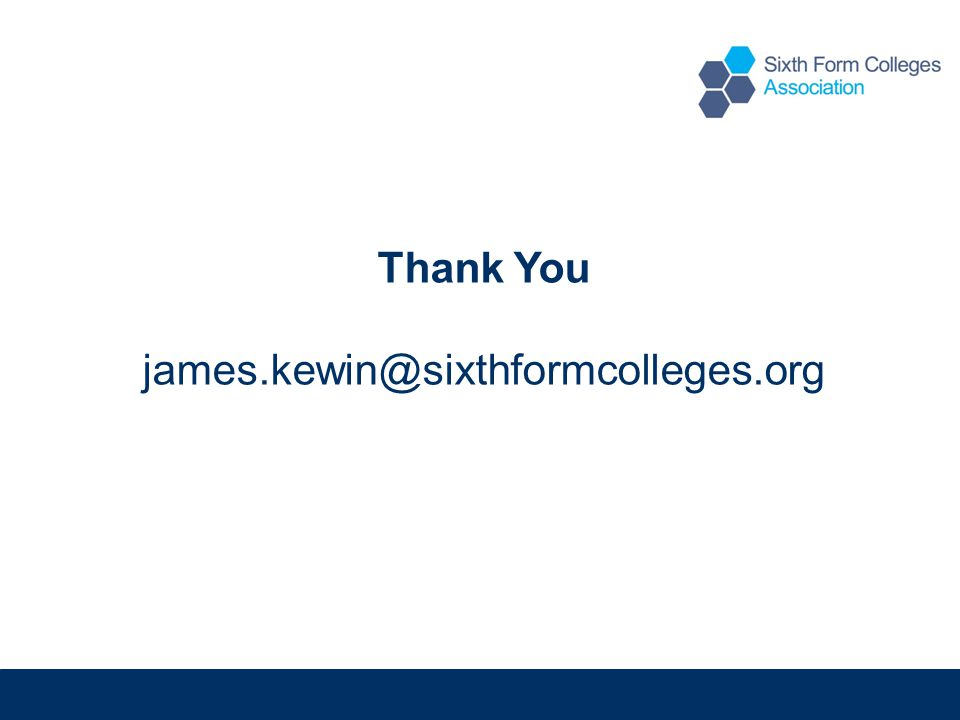 Thank You james.kewin@sixthformcolleges.org