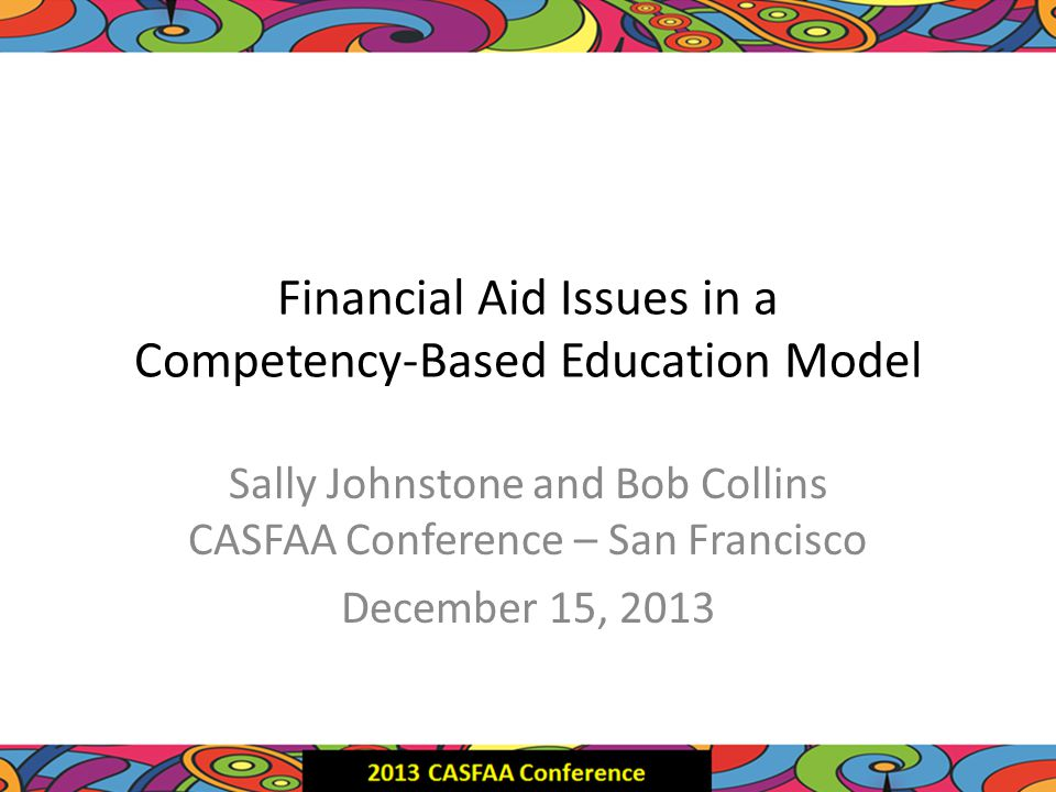 Competency-Based Education Sally M Johnstone Vice President for Academic Advancement Western Governors University