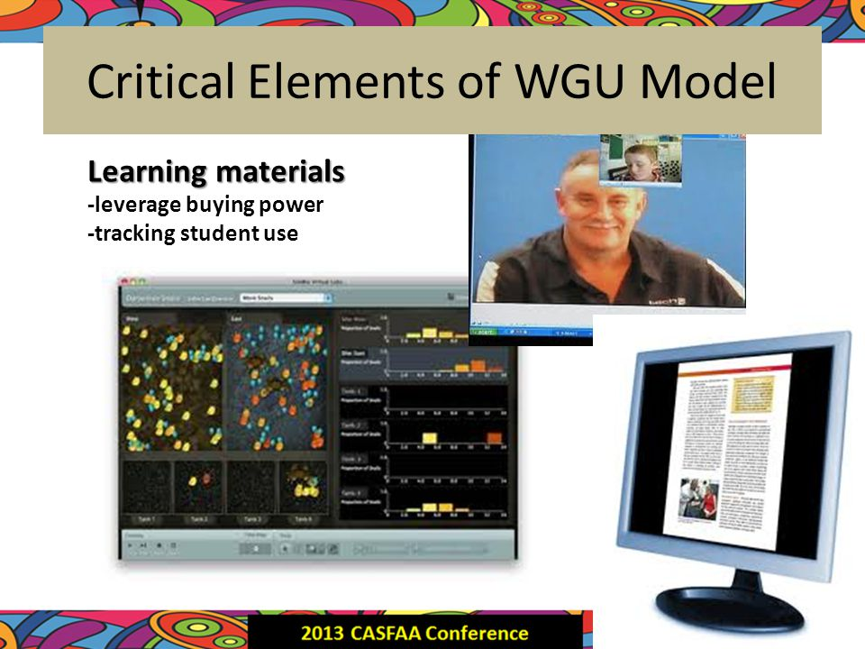 Critical Elements of WGU Model Assessments -mapped to competencies -secure