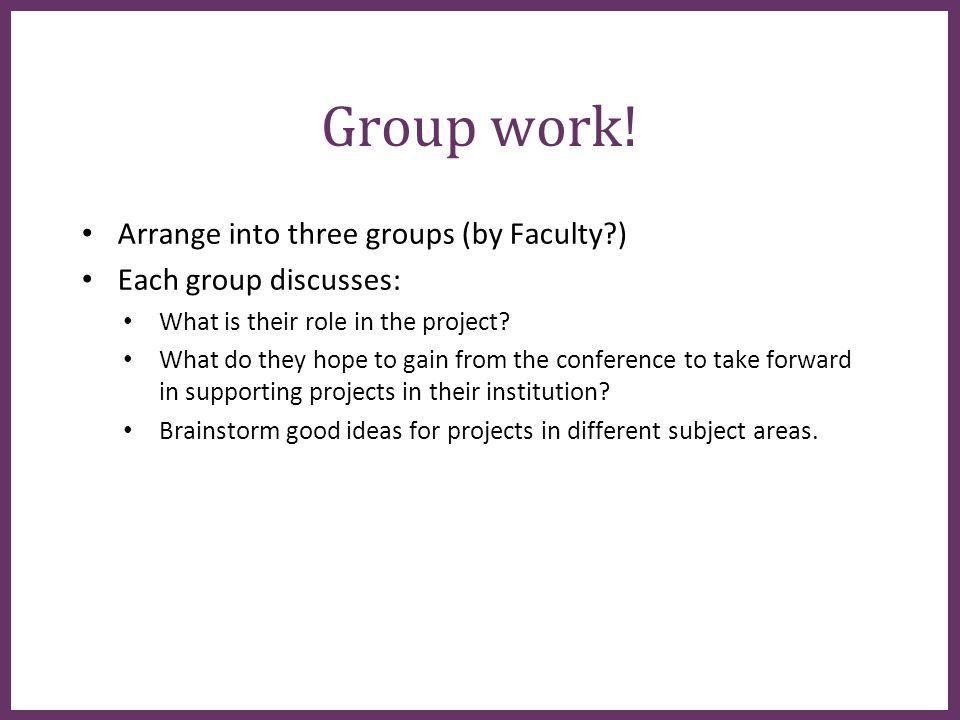 ∂ Group work.