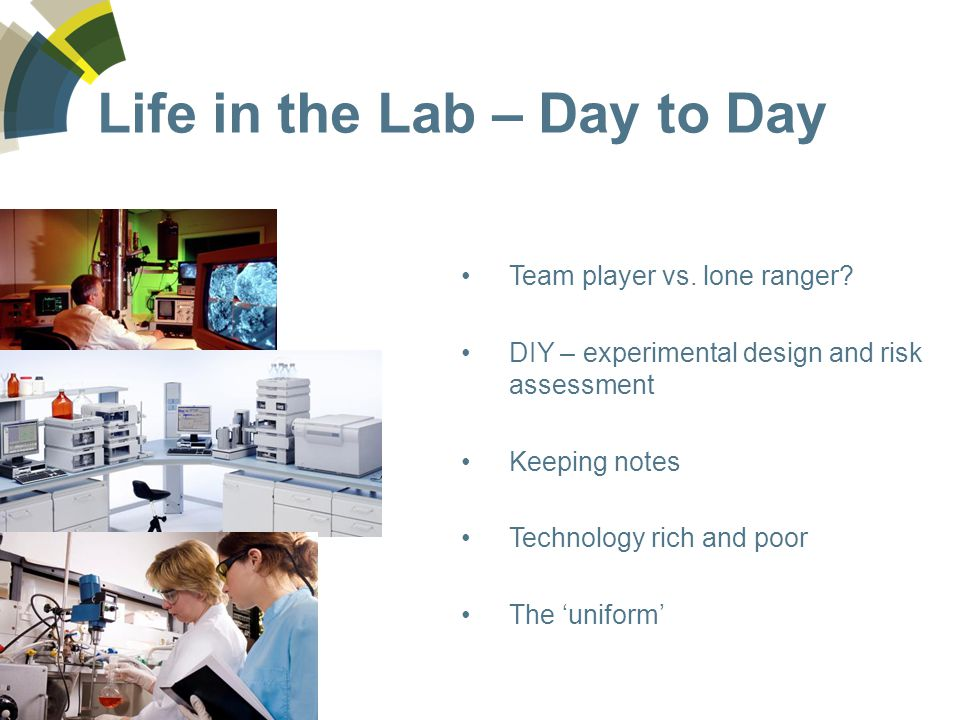 Life in the Lab – Day to Day Team player vs. lone ranger.