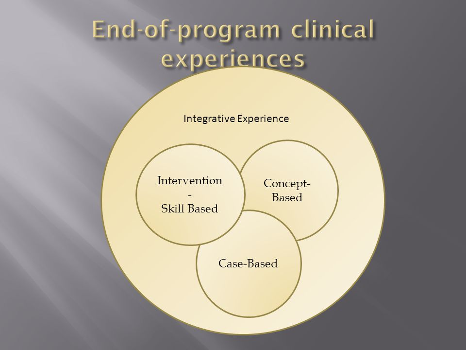 II Concept- Based Case-Based Intervention - Skill Based Integrative Experience