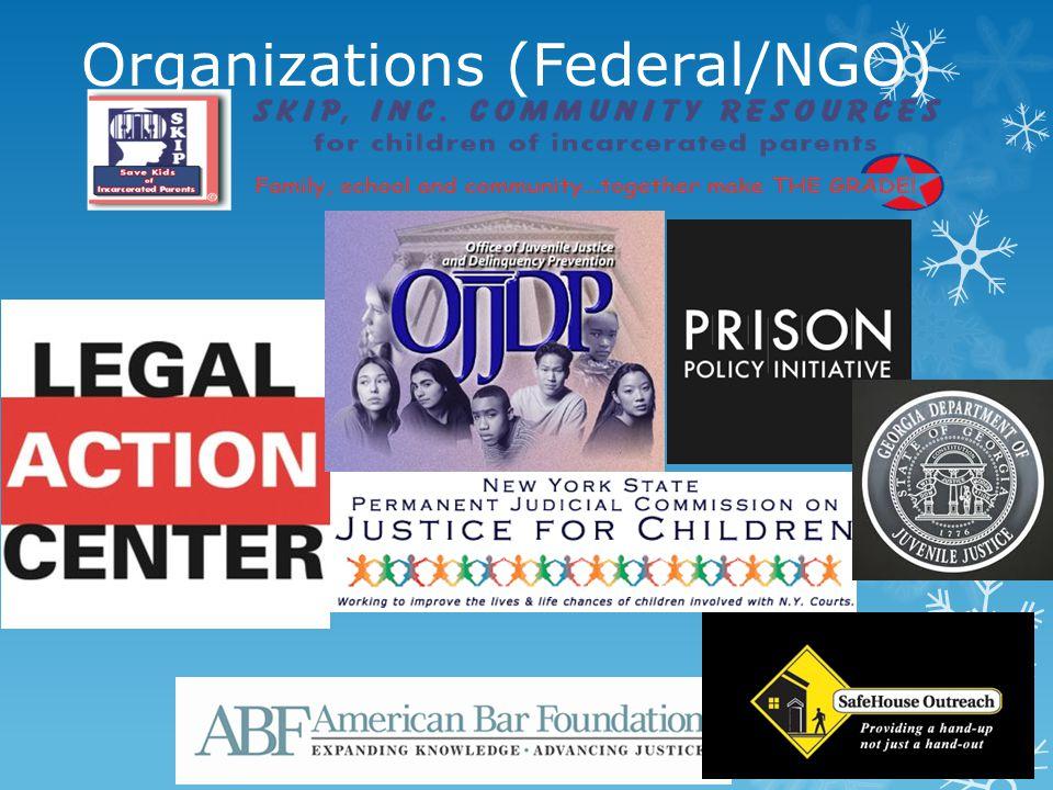 Organizations (Federal/NGO)