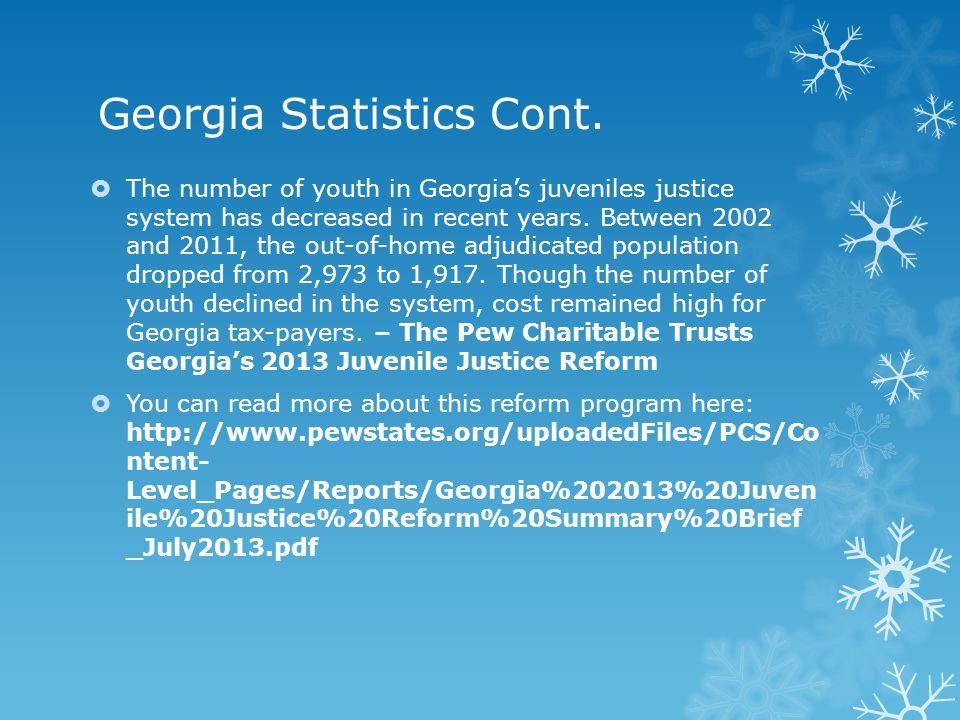 Georgia Statistics Cont.
