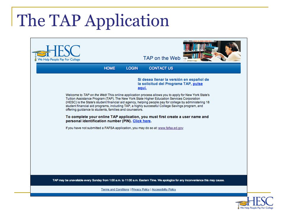 The TAP Application