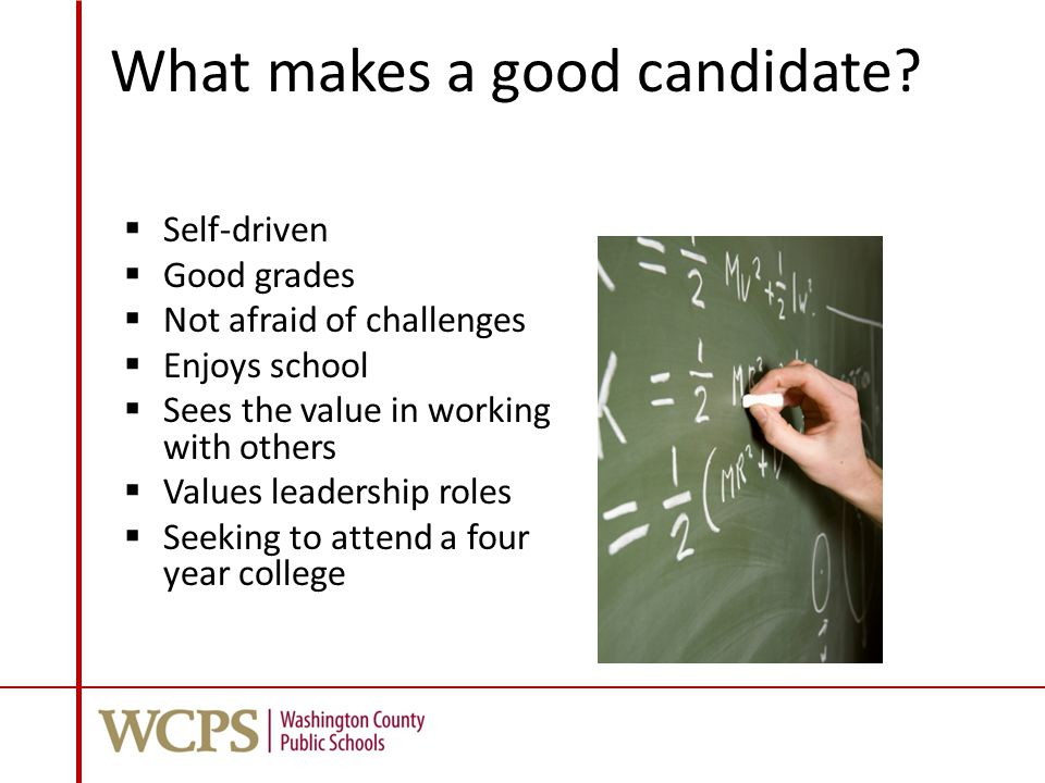 What makes a good candidate.