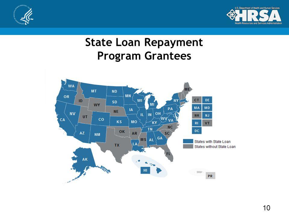 State Loan Repayment Program Grantees 10
