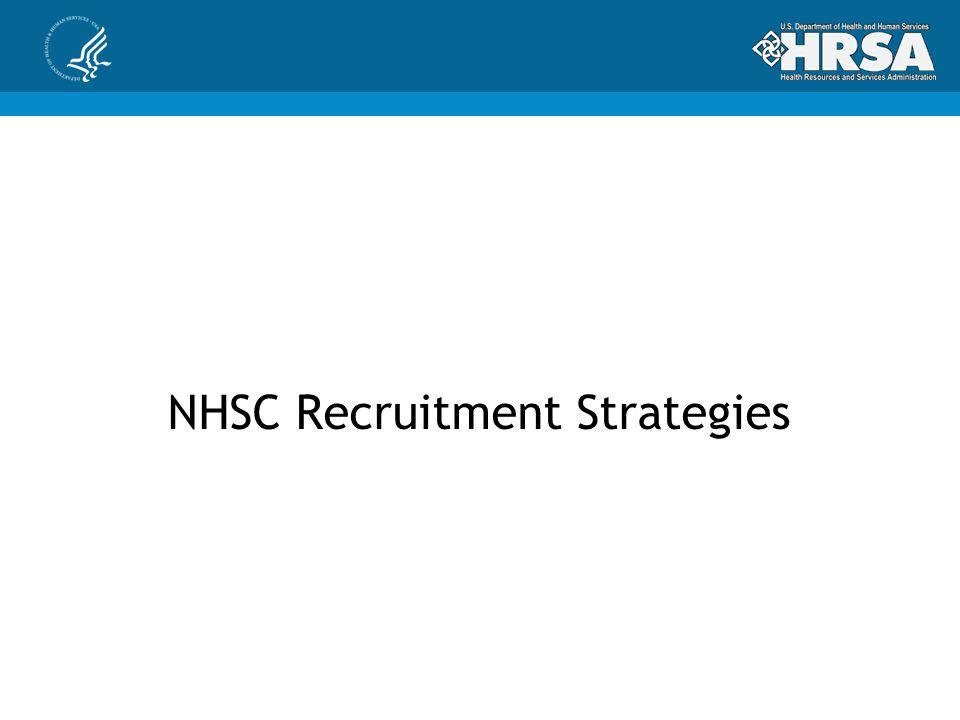 NHSC Recruitment Strategies