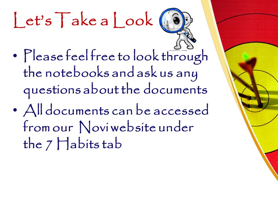 Let's Take a Look Please feel free to look through the notebooks and ask us any questions about the documents All documents can be accessed from our N