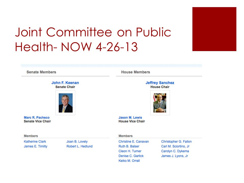 Joint Committee on Public Health- NOW 4-26-13