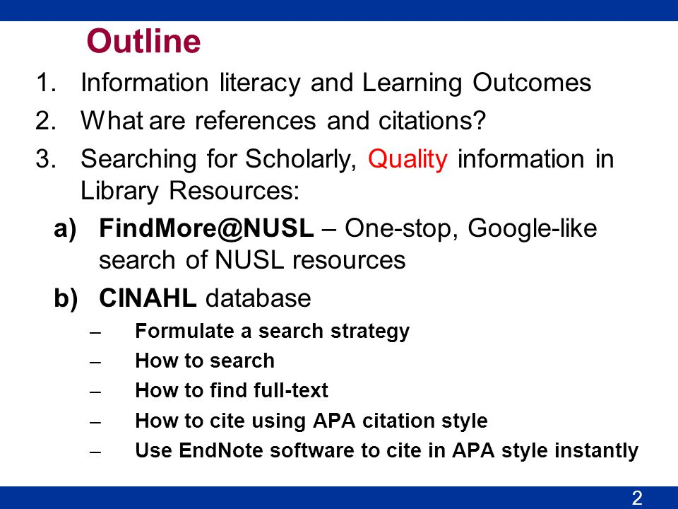 What is Information Literacy CILIP* have defined information literacy as: Information literacy is knowing when and why you need information, where to find it, and how to evaluate, use and communicate it in an ethical manner. *Chartered Institute of Library and Information Professionals (CILIP) (UK) http://www.cilip.org.uk/get-involved/advocacy/learning/information- literacy/pages/definition.aspx 3