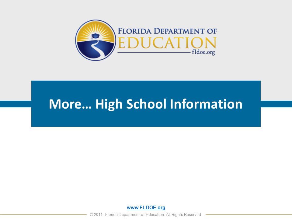 www.FLDOE.org © 2014, Florida Department of Education.