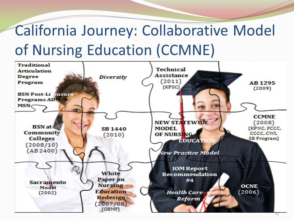 California Journey: Collaborative Model of Nursing Education (CCMNE) 17
