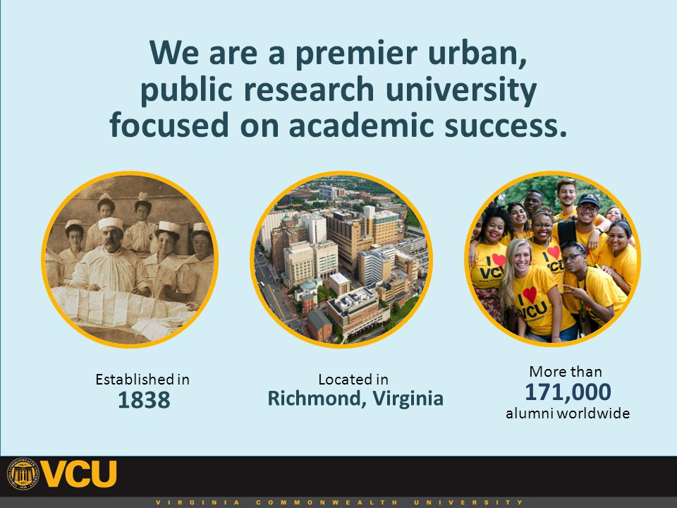 We are a premier urban, public research university focused on academic success.