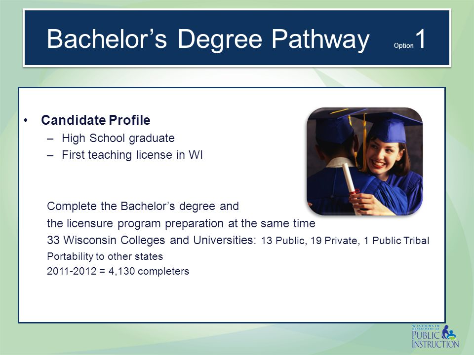 Bachelor's Degree Pathway General Studies and Major courses Admit to TE: Pass Basic Skills 2.5 GPA Major Courses and Content Tests Courses and Exp.