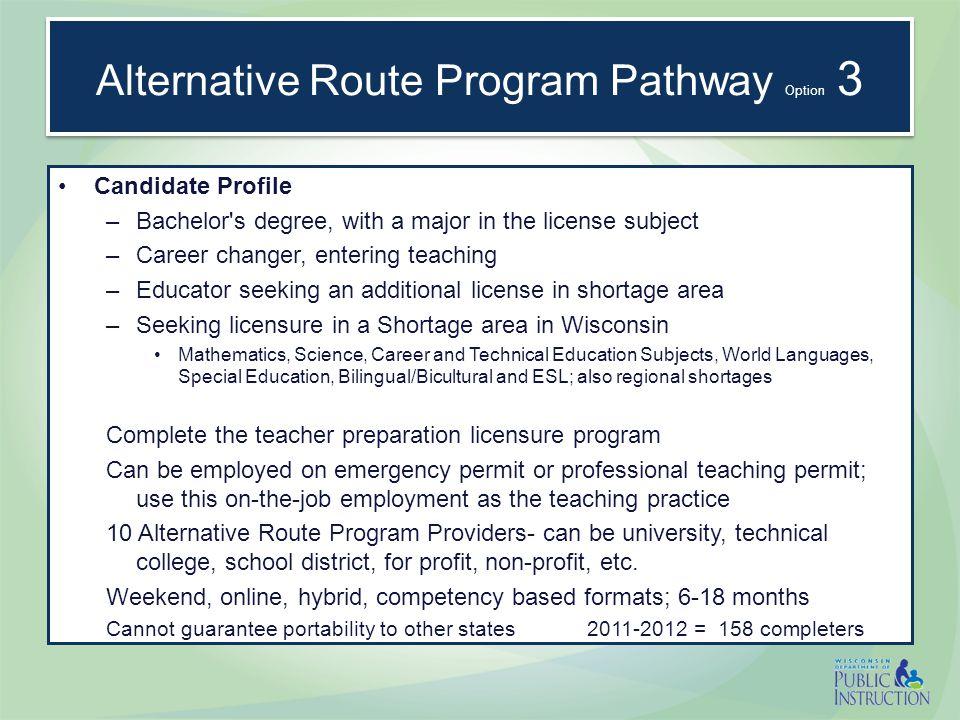 Alternative Route Program Pathway ACT.