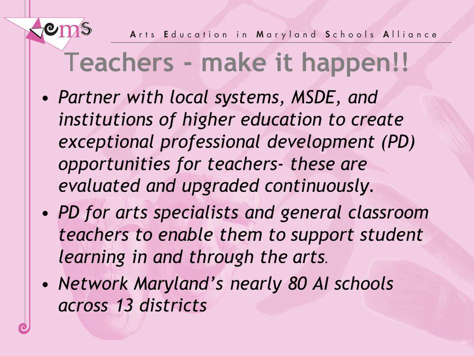 Teachers - make it happen!.