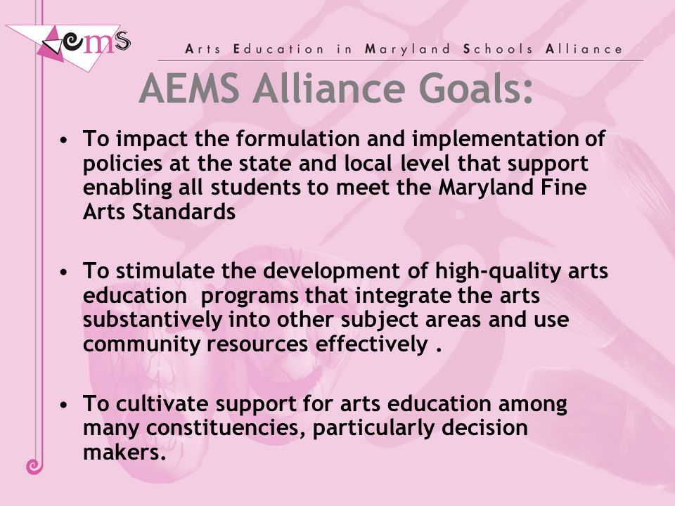 Higher Education Critical partners in pre-service and in-service teacher training in the arts and arts integration.