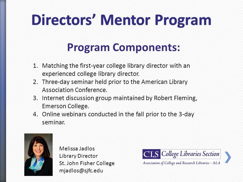 Melissa Jadlos Library Director St.