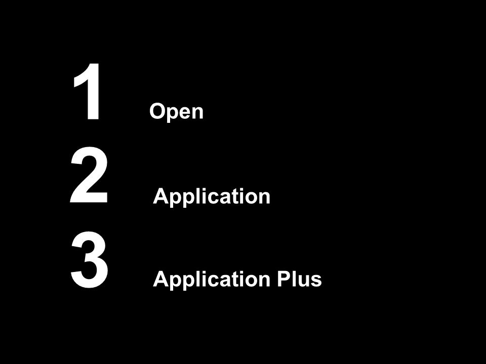 1 Open 2 3 Application Application Plus