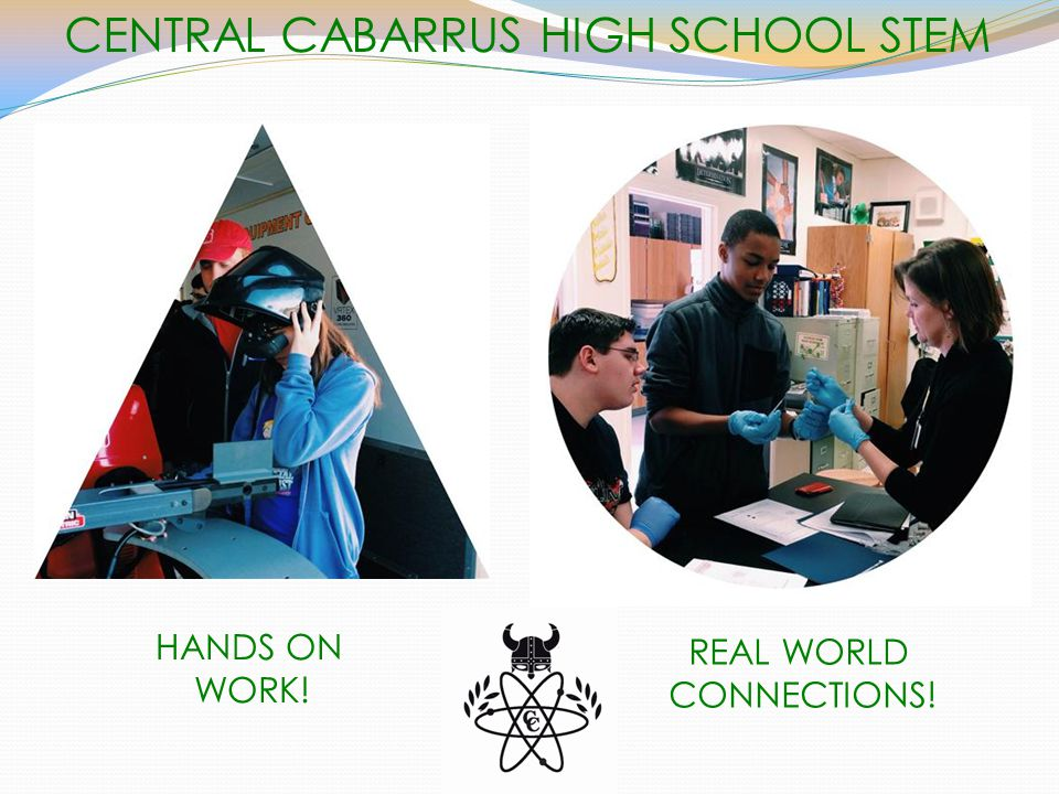 CENTRAL CABARRUS HIGH SCHOOL STEM HANDS ON WORK! REAL WORLD CONNECTIONS!