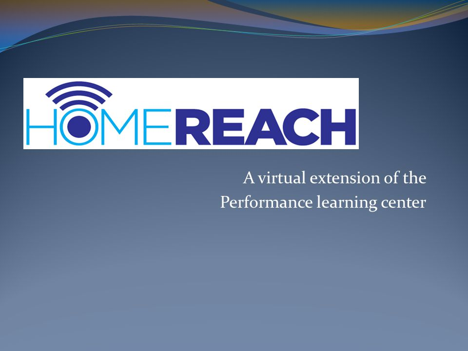 A virtual extension of the Performance learning center