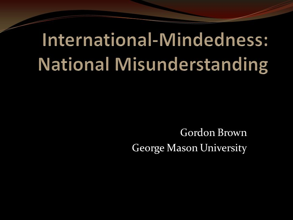 Gordon Brown George Mason University