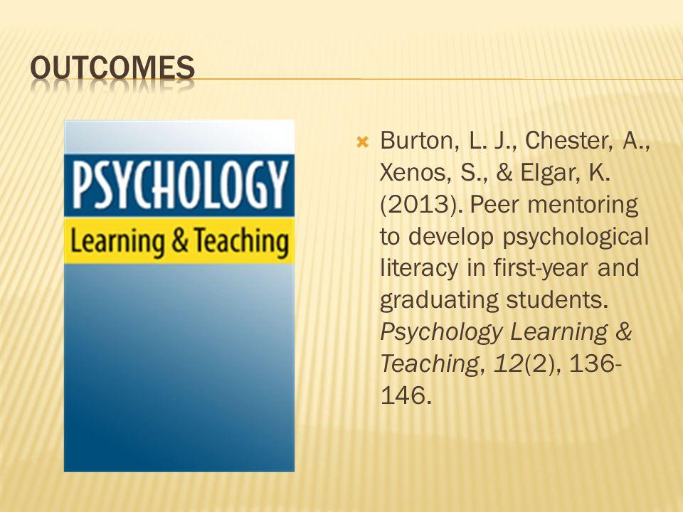  Burton, L. J., Chester, A., Xenos, S., & Elgar, K.