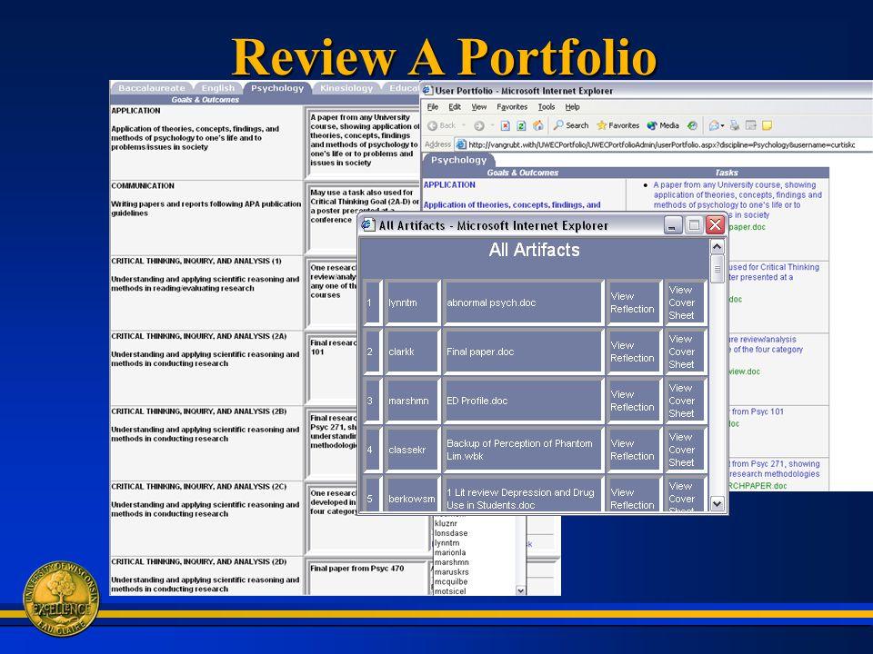 Review A Portfolio