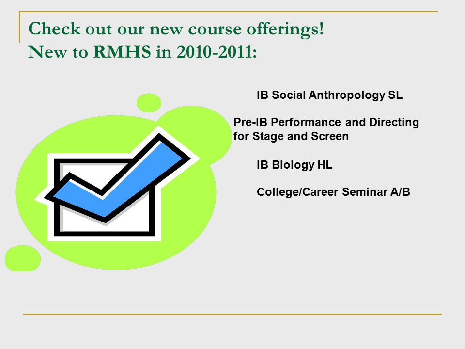 Check out our new course offerings.
