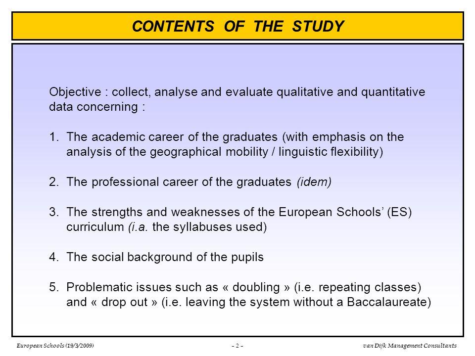 European Schools (19/3/2009)van Dijk Management Consultants 1.