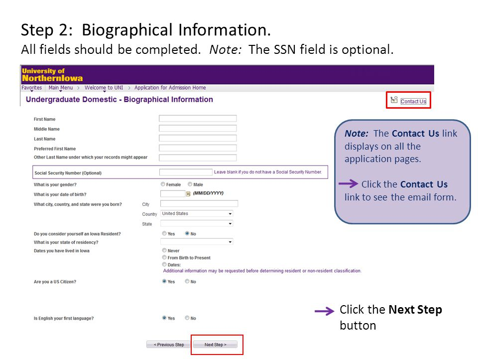Step 9: Previous Colleges Complete if applicable. See instructions.