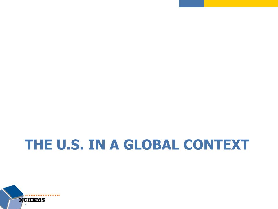 THE U.S. IN A GLOBAL CONTEXT 7