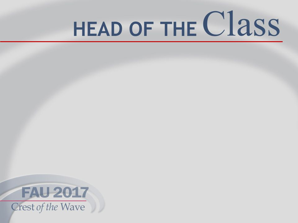 13 Class HEAD OF THE