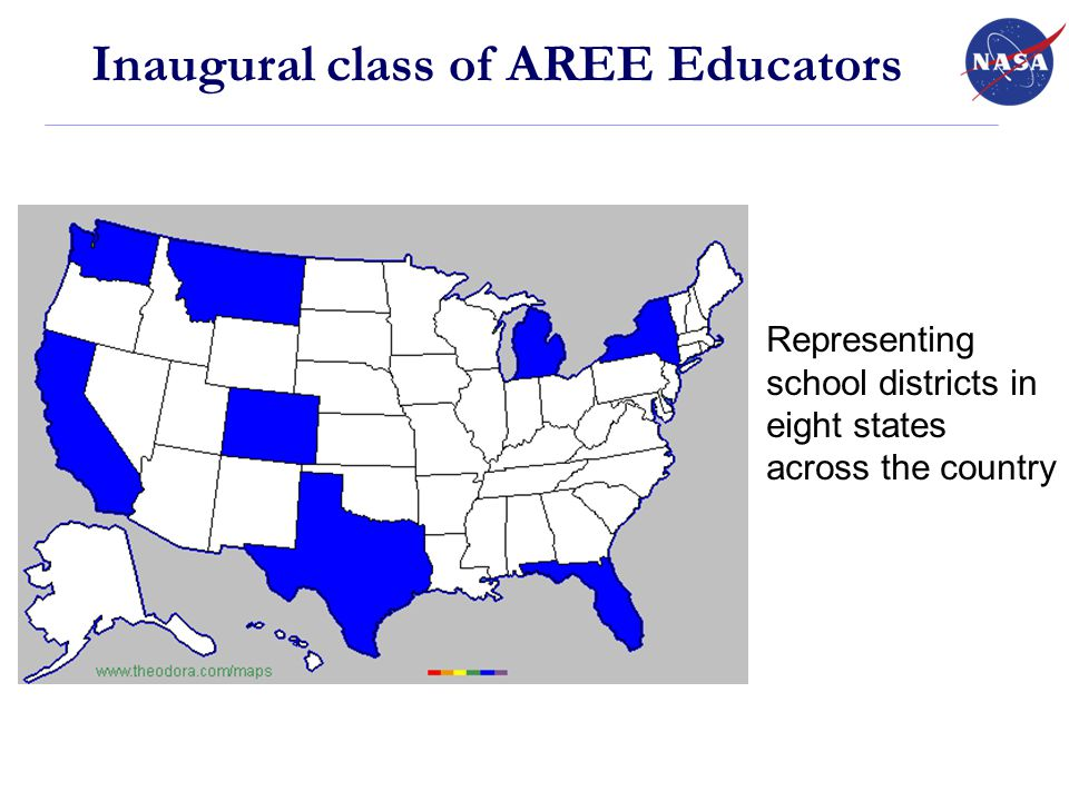 Representing school districts in eight states across the country Inaugural class of AREE Educators